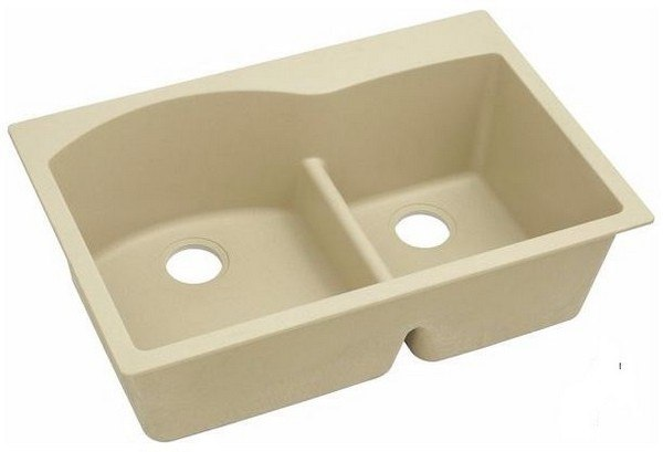 Elkay ELGH3322RSD0 33 L x 22 W x 10 D Double Bowl Kitchen Sink in Sand