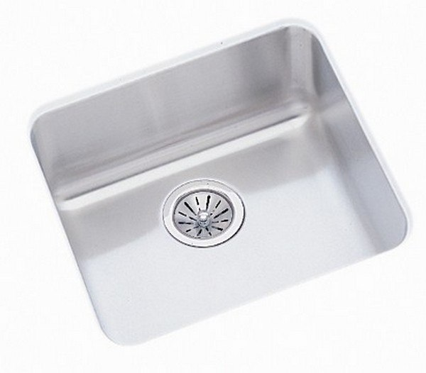 ELKAY ELUH1616DBG LUSTERTONE 18-1/2 L X 18-1/2 W X 7-7/8 D UNDERMOUNT KITCHEN SINK WITH DRAIN AND BOTTOM GRID
