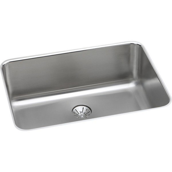 Elkay ELUH241610PD Stainless Steel 26-1/2 L x 18-1/2 W x 10 D Undermount Kitchen Sink with Perfect Drain