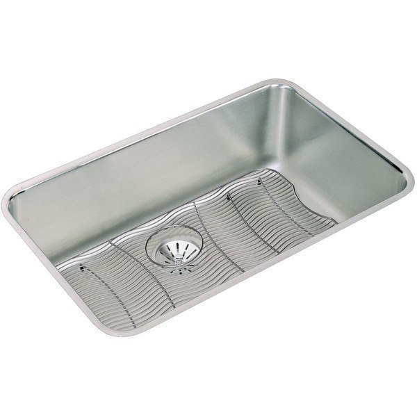 Elkay ELUH281610PDBG 30-1/2 L x 18-1/2 W x 10 D Undermount Kitchen Sink with Drain and Bottom Grid