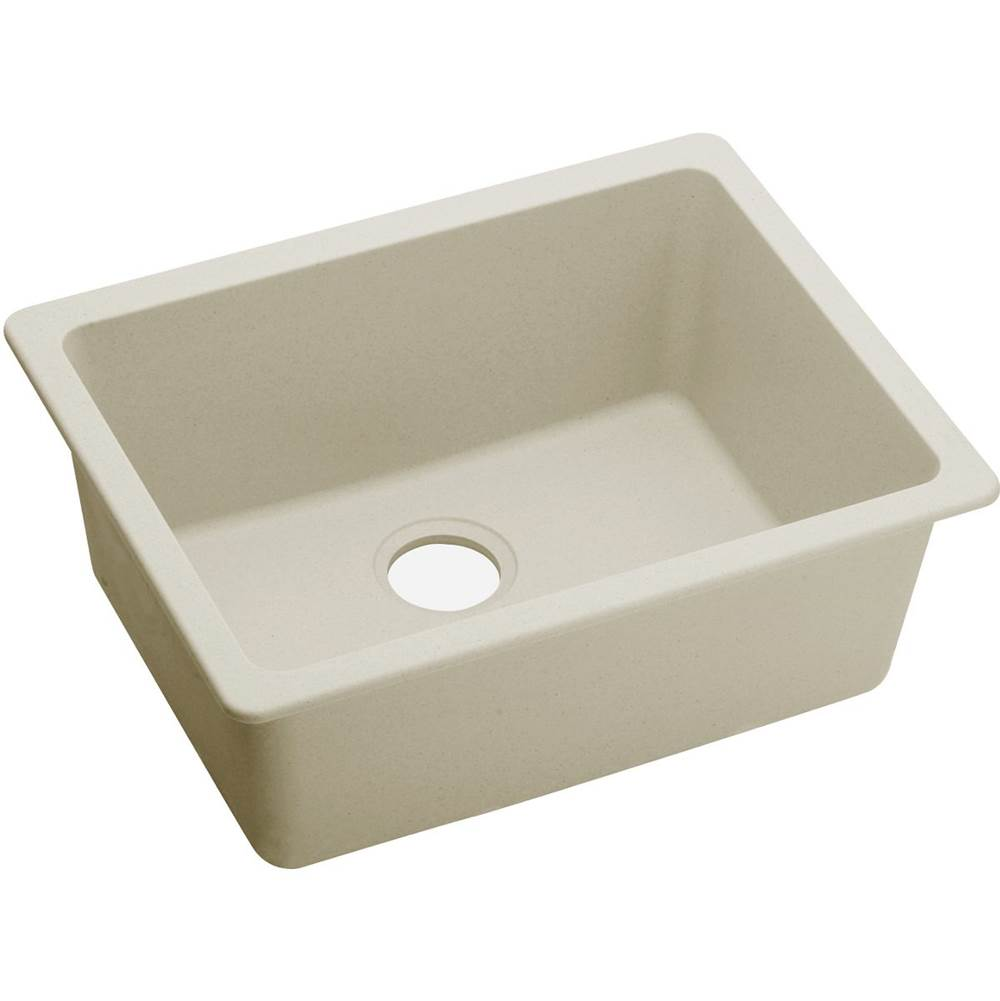 Elkay ELXU2522PA0 Quartz Luxe 25 L x 18-1/2 W x 9-1/2 D Undermount Sink in Parchment