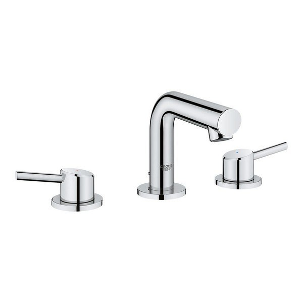 Kohler K-7437-2N-CP Triton 0.5 gpm Widespread Commercial Bathroom Sink Faucet Handles pop-up Drain and 5 Standard spout Polished Chrome