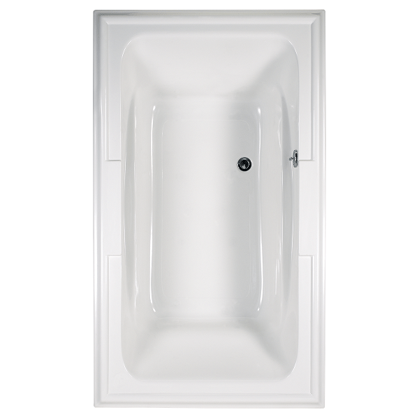 American Standard 2742.448WC.K2 Town Square 72 x 42 Inch Acrylic EcoSilent Combo Bath with Chromatherapy LED Lighting System