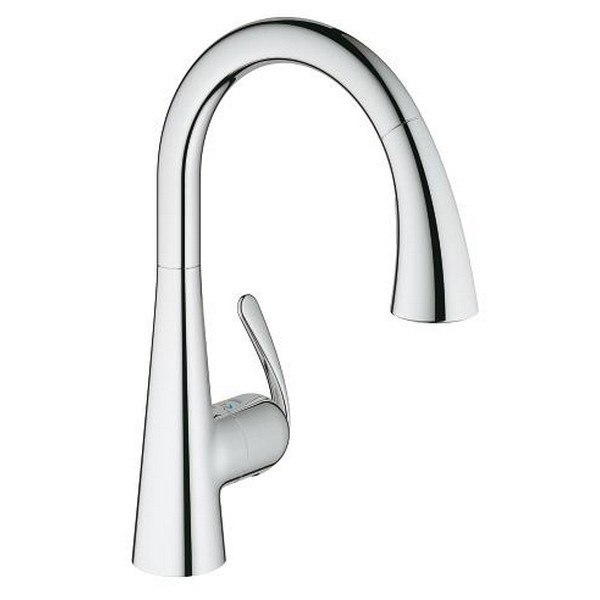Grohe 30313 Ladylux Foot Control Touch Single Hole Kitchen Faucet