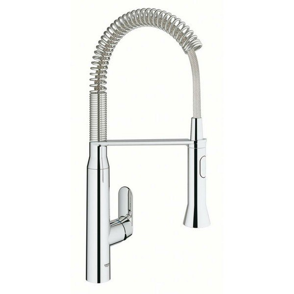 Grohe 30314 K7 Foot Control Touch Single Hole Kitchen Faucet
