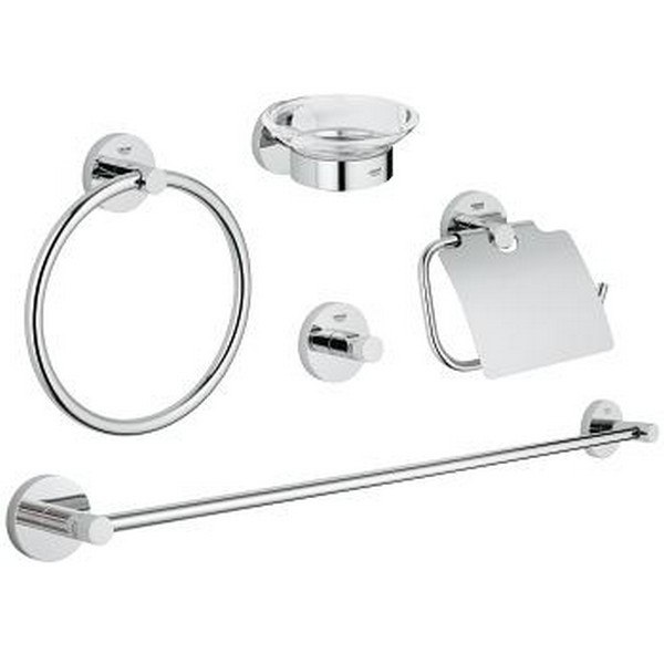 Grohe 40344 Essentials Master bathroom accessories set 5-in-1