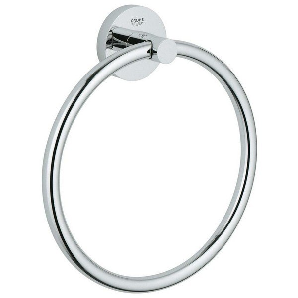 Grohe 40365001 Essentials Towel Ring in Chrome