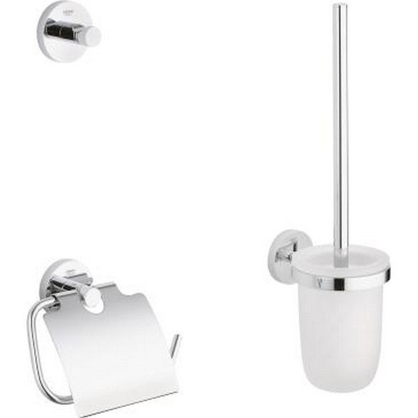 GROHE 40407001 ESSENTIALS CITY RESTROOM ACCESSORIES SET 3-IN-1 IN CHROME