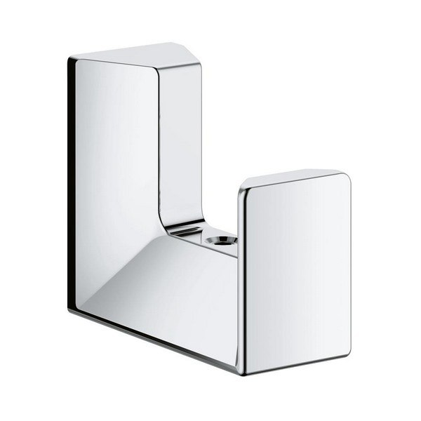 Grohe 40782000 Selection Cube Robe Hook in StarLight Chrome