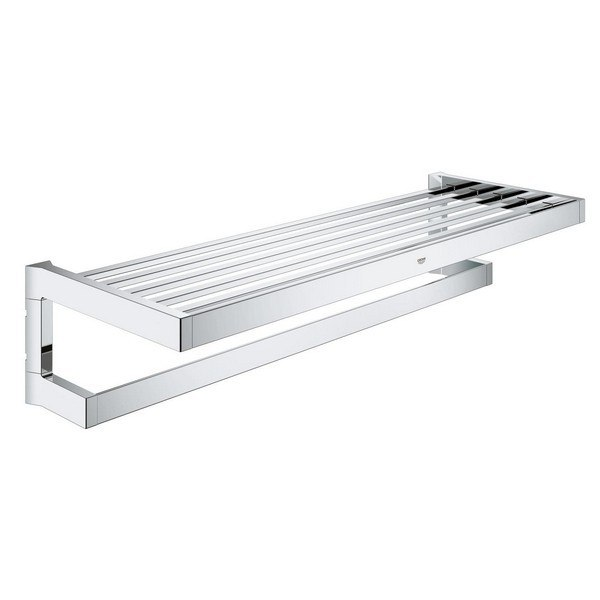 GROHE 40804000 SELECTION CUBE MULTI BATH TOWEL RACK IN POLISHED CHROME