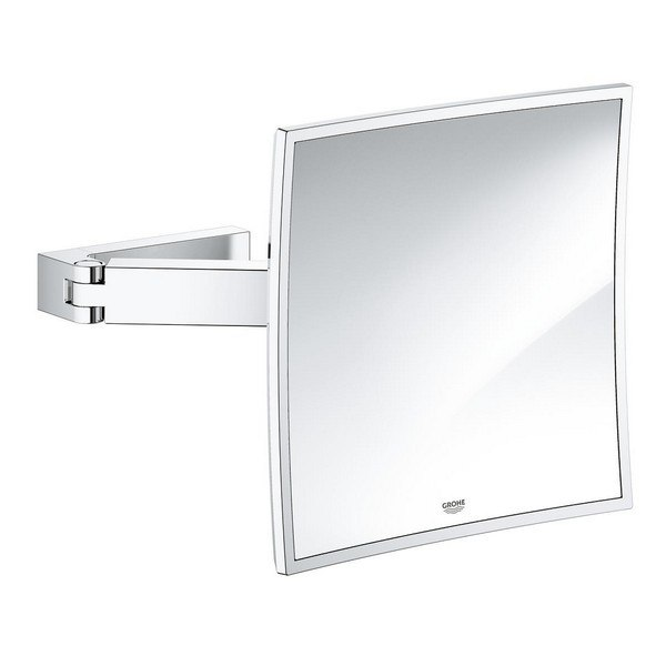 Grohe 40808000 Selection Cube Cosmetic Mirror in StarLight Chrome