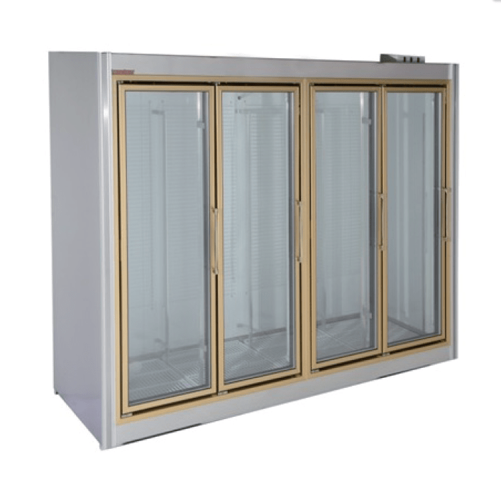Universal Coolers ADM-4 103 Inch Four Swinging Glass Door Reach-In ...