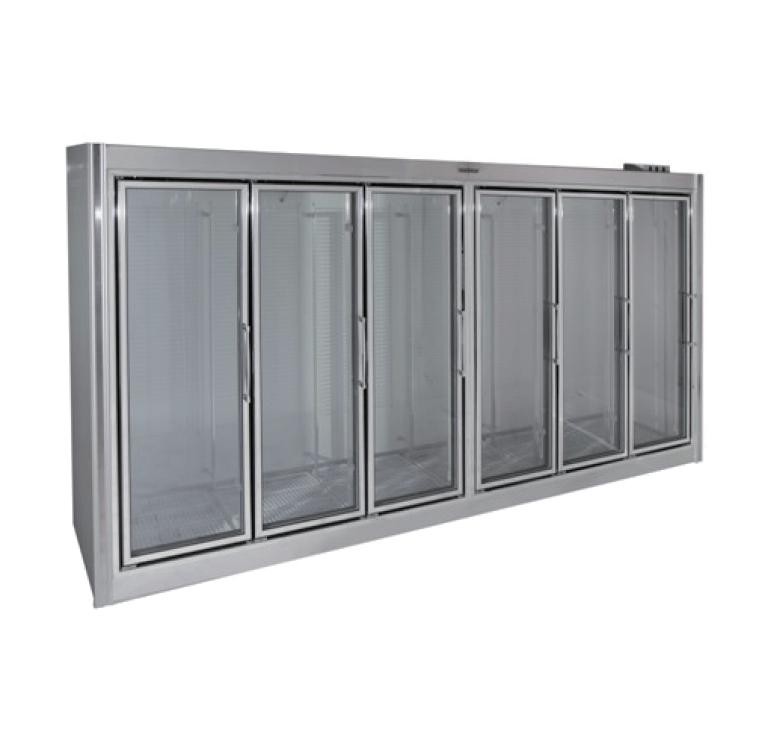 Universal Coolers Adm 6 150 Inch Six Swinging Glass Door Reach In