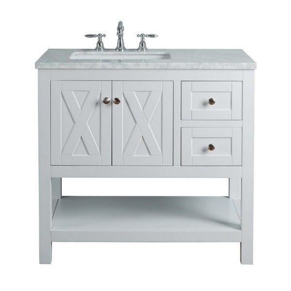 Stufurhome Hd 1527w 36 Cr Anabelle 36 Inch White Single Sink