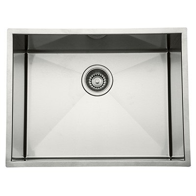 Rohl RSS2115 Luxury Stainless Steel 22-1/2 Inch Single Bowl Kitchen or Laundry Sink