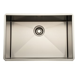 Rohl RSS2416 Luxury Stainless Steel 25-1/2 Inch Single Bowl Kitchen Sink