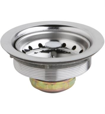 ELKAY D361125 DAYTON 3-1/2 STAINLESS STEEL DRAIN WITH REMOVABLE BASKET STRAINER AND RUBBER STOPPE