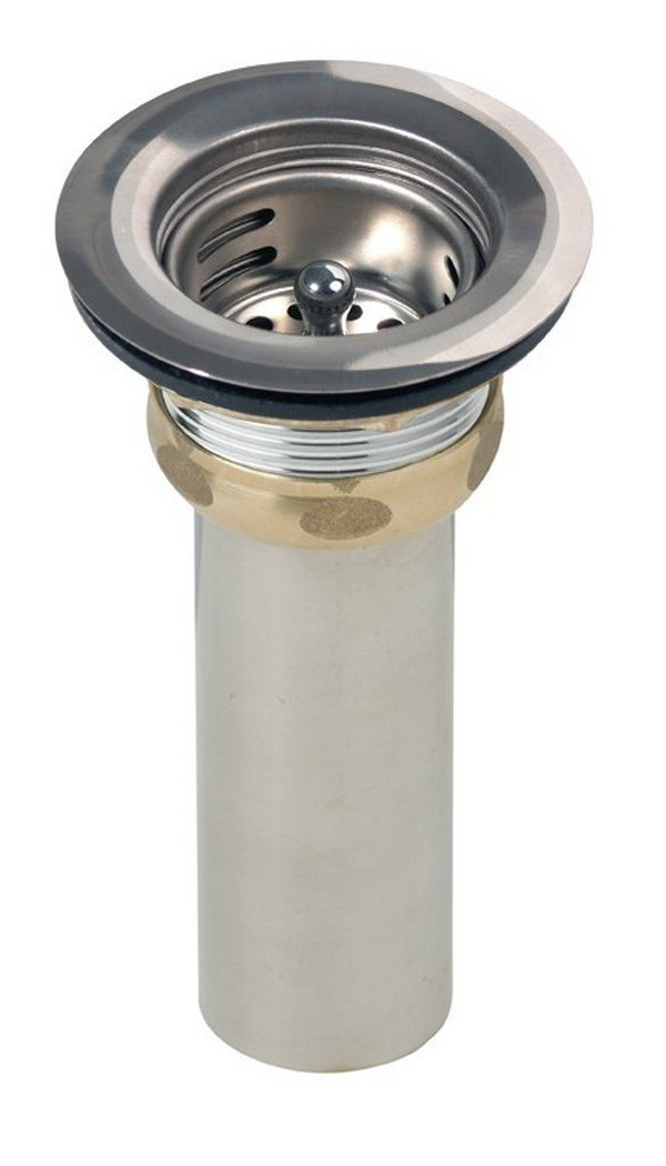 ELKAY LK58 DRAIN FITTING 3-1/2 TYPE, STAINLESS STEEL STRAINER BASKET AND RUBBER SEAL