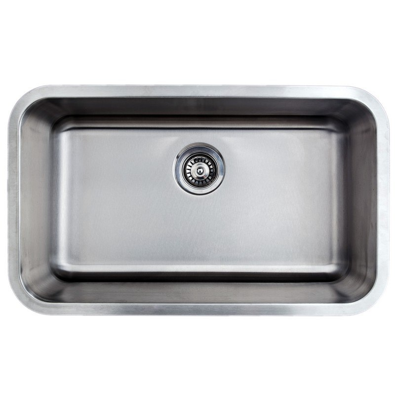 WELLS SINKWARE CMU3018-9-16-1 CRAFTSMEN SERIES 30 INCH UNDERMOUNT 16 GAUGE SINGLE BOWL STAINLESS STEEL KITCHEN SINK PACKAGE