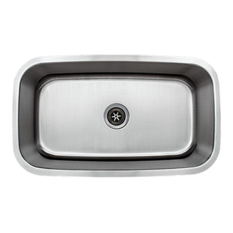 WELLS SINKWARE CMU3118-10 CRAFTSMEN SERIES 32 INCH UNDERMOUNT 18 GAUGE SINGLE BOWL STAINLESS STEEL KITCHEN SINK