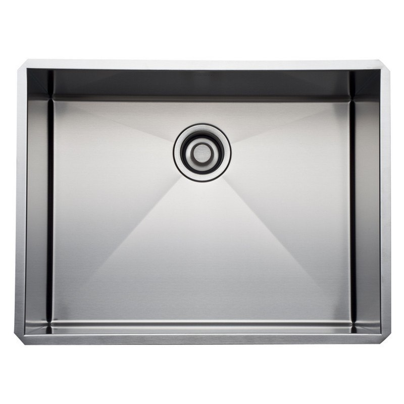 Rohl RSS2418 Luxury Stainless Steel 25-1/2 Inch Single Bowl Kitchen Sink