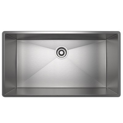 Rohl RSS2716 Luxury Stainless Steel 28-1/2 Inch Single Bowl Kitchen Sink in Brushed Stainless Steel