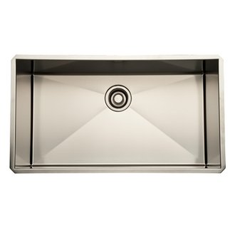 Rohl RSS3016 Luxury Stainless Steel 31-1/2 Inch Single Bowl Kitchen Sink