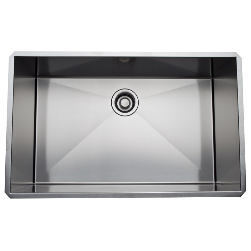 Rohl RSS3018 Luxury Stainless Steel 31-1/2 Inch Single Bowl Kitchen Sink