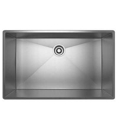 Rohl RSS3318SB Luxury Stainless Steel 34-1/2 Inch Single Bowl Kitchen Sink in Brushed Stainless Steel