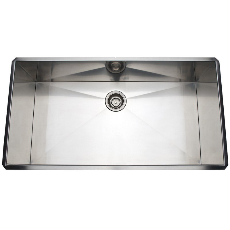 Rohl RSS3618 Luxury Stainless Steel 37-1/2 Inch Single Bowl Kitchen Sink