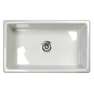 Rohl UM3018 Shaws Classic  30 Inch Shaker Modern Single Bowl Undermount Fireclay Kitchen Sink
