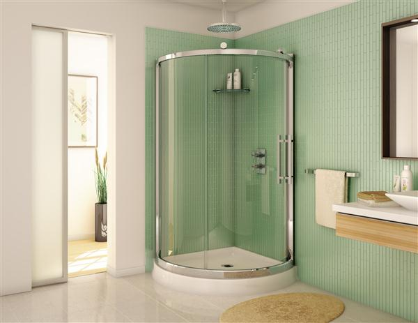 Fleurco Fsr36 Sorrento 36 X 36 Inch Arc Corner Shower