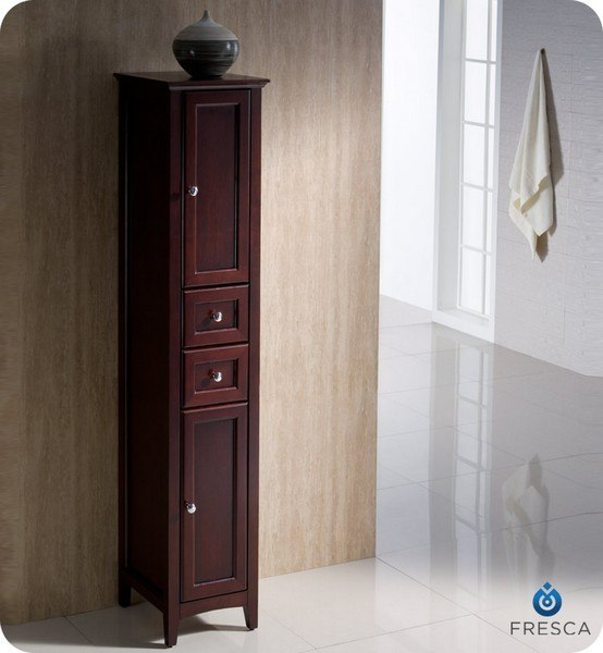 fresca fst2060mh oxford mahogany tall bathroom linen cabinet fresca bathroom linen side cabinet
