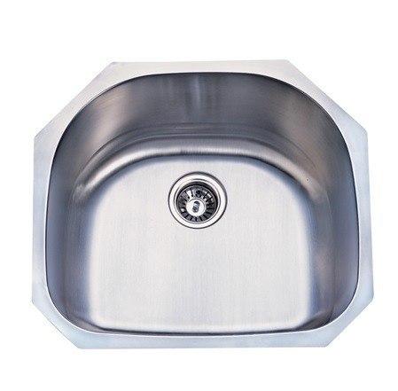 Kingston Brass KUD24219BN Gourmetier Manhattan Stainless Steel Single Bowl Undermount Kitchen Sink