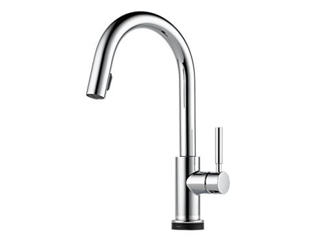 Brizo 64020LF Solna Single Handle Single Hole Pull-Down Kitchen Faucet with SmartTouch® Technology
