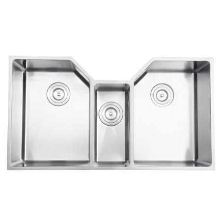 Ruvati RVH8500 34 Inch Undermount Stainless Steel Triple Bowl Sink