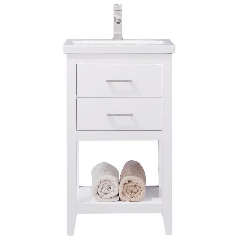 Design Element S02 20 Wt Cara 20 Inch Bath Vanity In White