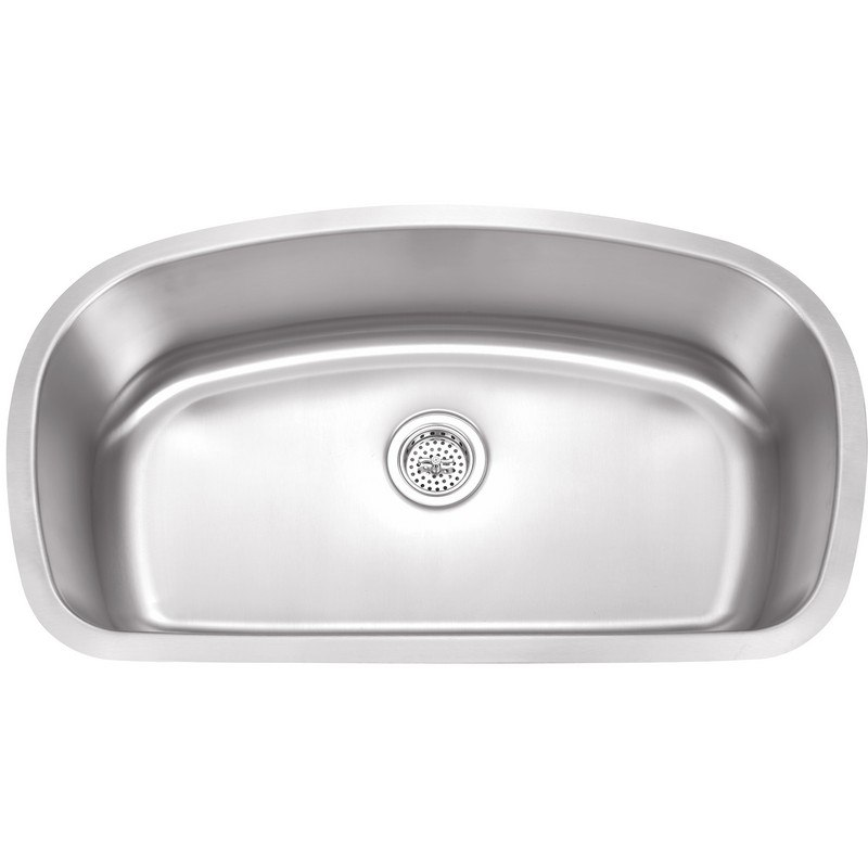 WELLS SINKWARE SSU3319-9-1 18 GAUGE 33 INCH UNDERMOUNT SINGLE BOWL STAINLESS STEEL KITCHEN SINK PACKAGE