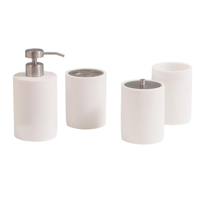 AVANITY KOKO1704 KOKO 4 PIECE POLYRESIN BATH ACCESSORIES SET