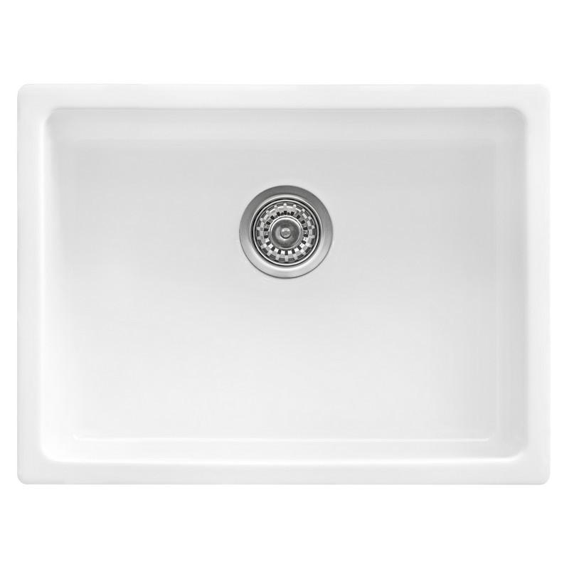 Ruvati Rvl2420wh 24 Inch Fireclay Undermount Drop In Topmount Kitchen Sink Single Bowl White