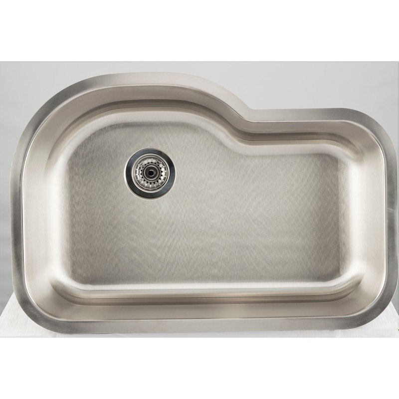 AMERICAN IMAGINATIONS AI-27716 18 GAUGE 31.13 INCH KITCHEN SINK IN CHROME