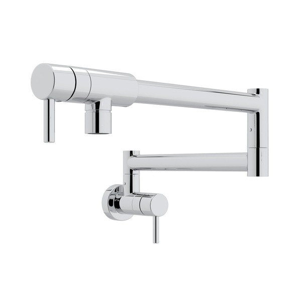 ROHL QL66L-2 MODERN ARCHITECTURAL WALL MOUNT SINGLE HOLE POT FILLER WITH METAL LEVERS