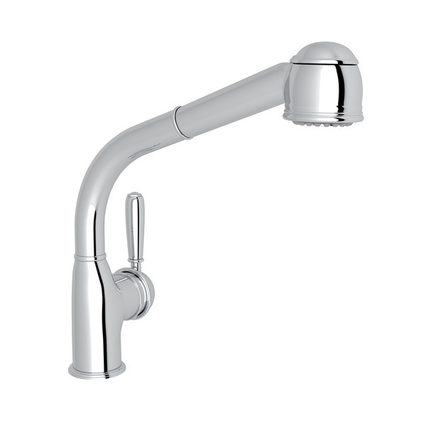 ROHL R7903LM COUNTRY SIDE LEVER PULL-OUT SINGLE HOLE KITCHEN FAUCET WITH METAL LEVER