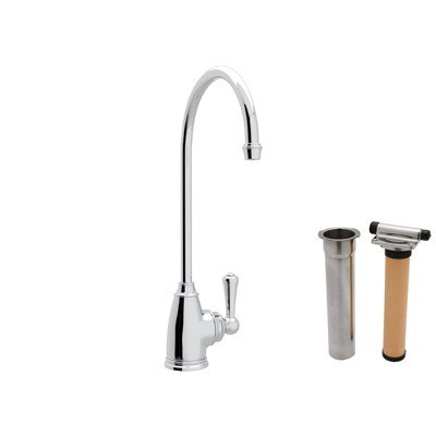 Rohl U.KIT1625L-2 Perrin & Rowe Georgian Era C-Spout Single Hole Filter Faucet with Metal Levers
