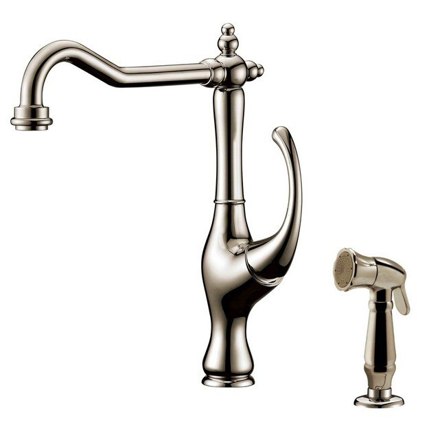 DAWN AB08 3155BN SINGLE-LEVER KITCHEN FAUCET WITH SIDE-SPRAY IN BRUSHED NICKEL