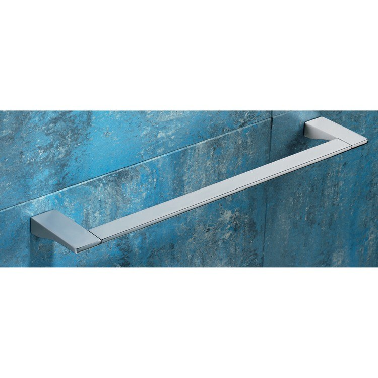GEDY 5721-60-13 GLAMOUR SQUARE 24 INCH POLISHED CHROME TOWEL BAR