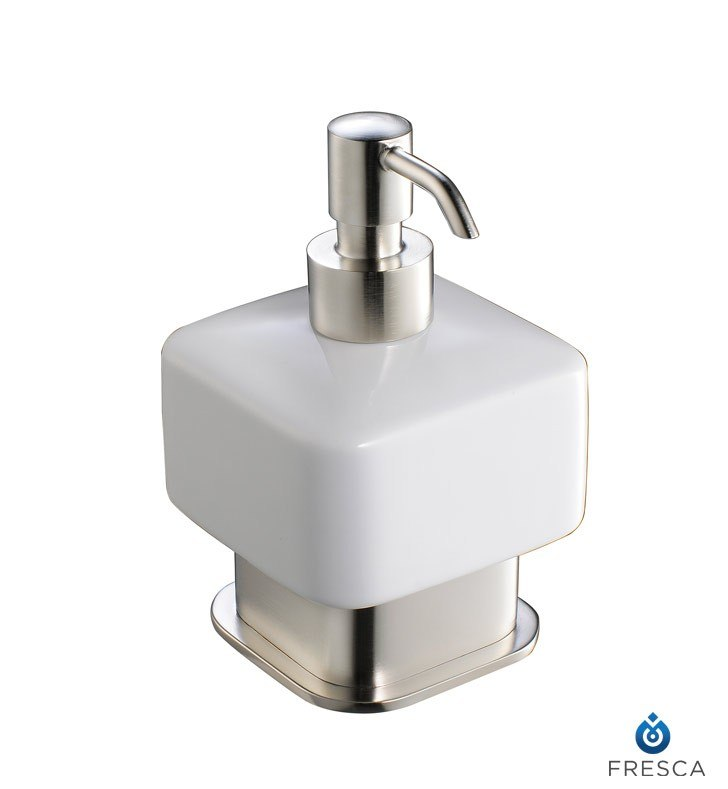 FRESCA FAC1361BN SOLIDO LOTION DISPENSER (FREE STANDING) - BRUSHED NICKEL