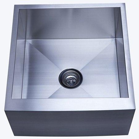 Kingston Brass KUF212110BN Gourmetier Denver Stainless Steel Single Bowl FArm house Kitchen Sink, Brushed Nickel