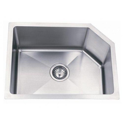 Lada LD2217 Undermount 30 Inch Offset Single Bowl Kitchen Sink