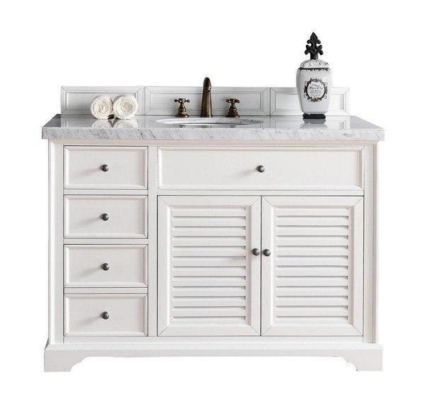 James Martin 238 104 V48 Cwh Savannah 48 Inch Single Vanity Cabinet In Cottage White 238 104 V48 Cwh 238104v48cwh